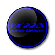 VX220 Super Charged 3D Domed Gel Wheel Centre Badges Stickers Decals Set of 4